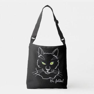 Sac Ajustable Noir drôle de chat