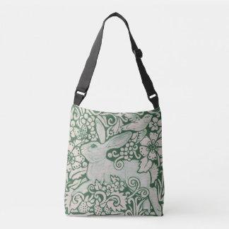 Sac Ajustable Oiseau floral de lapin de bourse verte et blanche