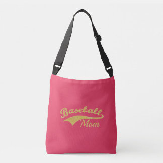 Sac Ajustable Texte de maman de base-ball d'or
