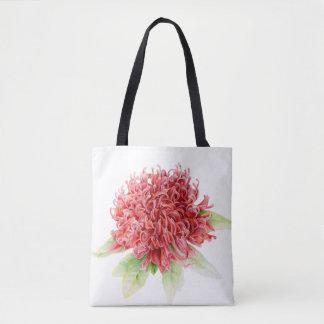Sac australien indigène de plante de fleur rouge