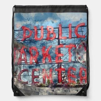 Sac Avec Cordons Centre de marché public à Seattle Washington