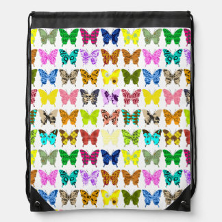 Sac Avec Cordons Collage de papillon