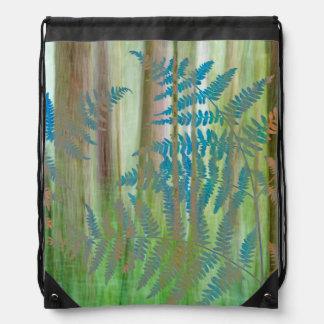 Sac Avec Cordons Collage des fougères et de la forêt | Seabeck, WA