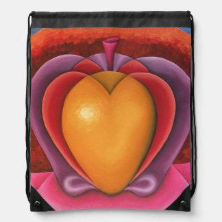 Sac Avec Cordons Coloridas Frutas, manzana, mangue, corazón