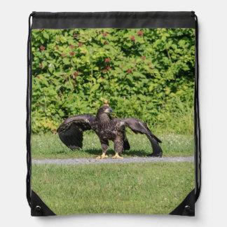 Sac Avec Cordons Eagle chauve juvénile