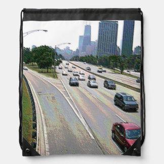 Sac Avec Cordons Le trafic de Chicago en grès
