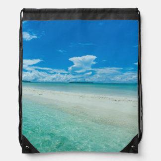 Sac Avec Cordons Paysage marin tropical bleu, Palaos