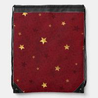 Rouge royal éclatant d'étoiles