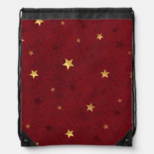 Sac Avec Cordons Rouge royal éclatant d'étoiles