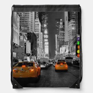 Sac Avec Cordons Sac de tour sac sac New York Times Square Cab
