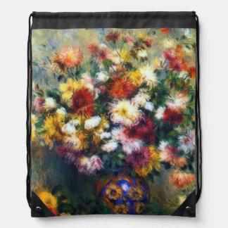 Sac Avec Cordons Vase de beaux-arts de Chrysanthemuns Renoir