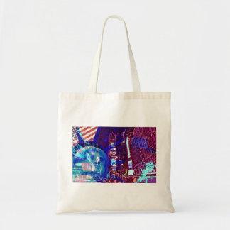 sac bag new york usa statue liberté bleu design
