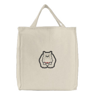 Sac Brodé Applique de bouledogue