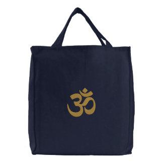 Sac Brodé Broderie de yoga de spiritualité de symbole d'OM