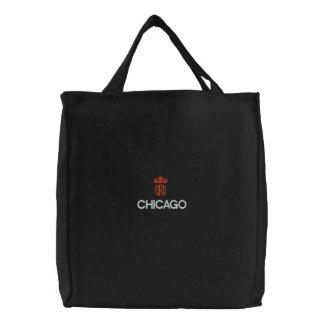 SAC BRODÉ CHICAGO, ORD FOURRE-TOUT NOIR