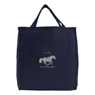 Sac Brodé Écuries d'équitation de cheval ou de poney