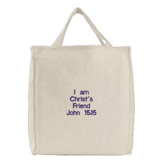 Sac Brodé L'ami du Christ