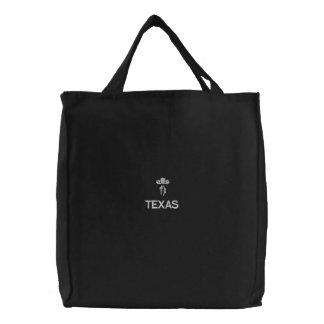 SAC BRODÉ LE TEXAS, TX FOURRE-TOUT NOIR