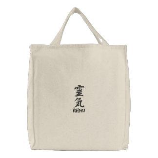 Sac brodé par kanji de Reiki