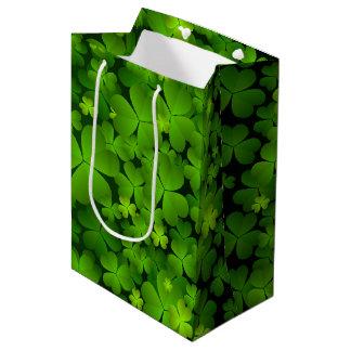 Sac Cadeau Moyen Accessoires irlandais de cadeau de shamrock