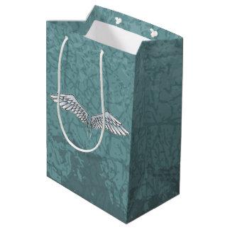 Sac Cadeau Moyen ailes Bleu-grises