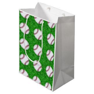 Sac Cadeau Moyen Base-ball sur la pelouse