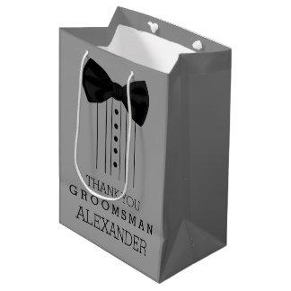 Sac Cadeau Moyen Couleur de gris de personnaliser de smoking de