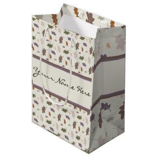 Sac Cadeau Moyen Douches personnalisées de feuille coloré de chêne