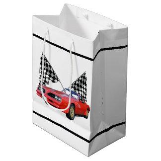 Sac Cadeau Moyen Emballage des drapeaux et du hot rod