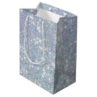 Sac Cadeau Moyen Le scintillement de vert bleu tient le premier