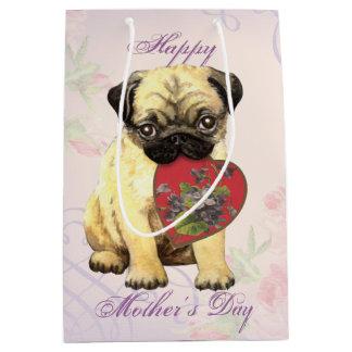 Sac Cadeau Moyen Maman de coeur de carlin