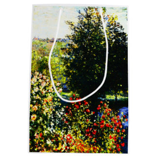 Sac Cadeau Moyen Monet-Roses de Claude dans le jardin chez