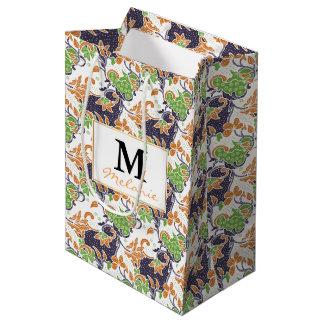 Sac Cadeau Moyen Motif floral artistique de batik de vignes