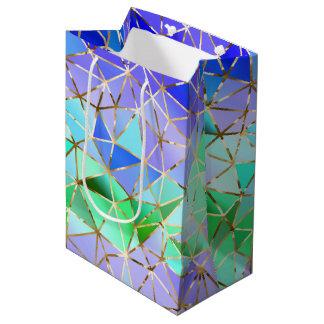 Sac Cadeau Moyen Motif géométrique d'arc-en-ciel