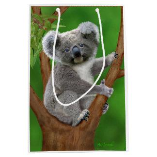 Sac Cadeau Moyen Ours de koala aux yeux bleus de bébé