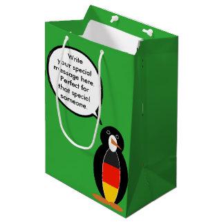 Sac Cadeau Moyen Pingouin parlant de drapeau allemand