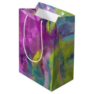 Sac Cadeau Moyen Résumé peint coloré