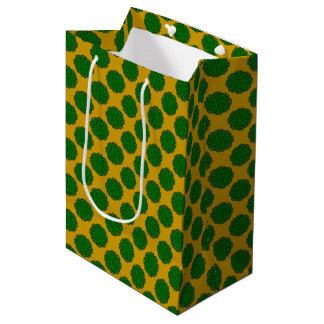 Sac Cadeau Moyen Ruban de fleur de vert vert