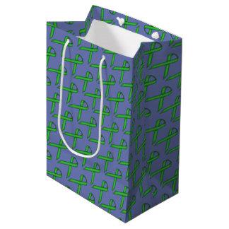 Sac Cadeau Moyen Ruban standard vert