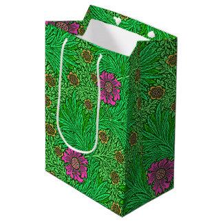 Sac Cadeau Moyen Souci de William Morris, vert vert et fuchsia
