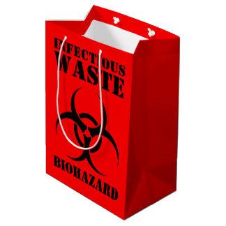 Sac Cadeau Moyen Symbole de rebut infectieux de Biohazard
