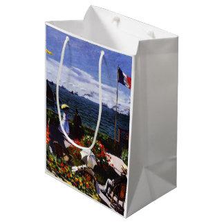Sac Cadeau Moyen Terrasse de Claude Monet-The chez Sainte-Adresse
