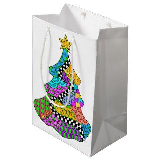Sac Cadeau Moyen Torsion d'arbre de Noël