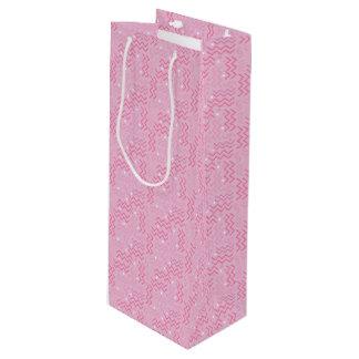 Sac Cadeau Pour Bouteille Conception géniale de Memphis de rose en pastel