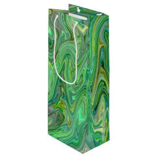 Sac Cadeau Pour Bouteille couleurs crémeuses, vertes