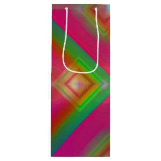 Sac Cadeau Pour Bouteille Dessin géométrique