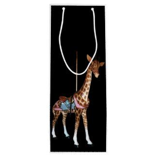 Sac Cadeau Pour Bouteille Girafe d'écho de gorge