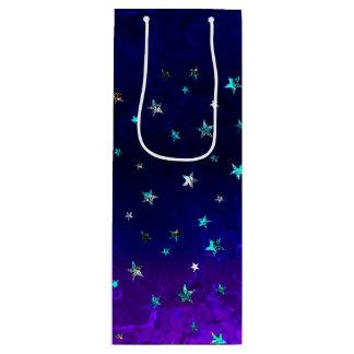 Sac Cadeau Pour Bouteille Image étoilée de belle nuit de galaxie de l'espace