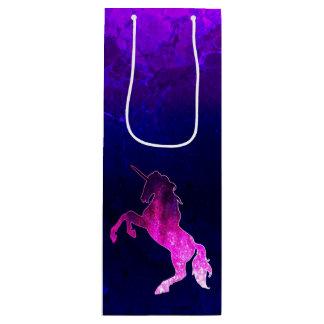 Sac Cadeau Pour Bouteille Image scintillante de belle licorne rose de