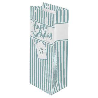 Sac Cadeau Pour Bouteille L'Aqua minimaliste/blanc barre le joyeux